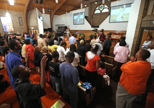 16September2009  Mount Zion Baptist Church held a Prayer Vigil for Our Children's Future and Preserving Early Childhood Programs during its Wednesday evening service. (John A. Lacko / Special to the Gazette)
